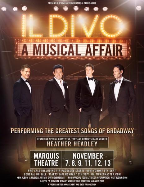 Il Divo on Broadway