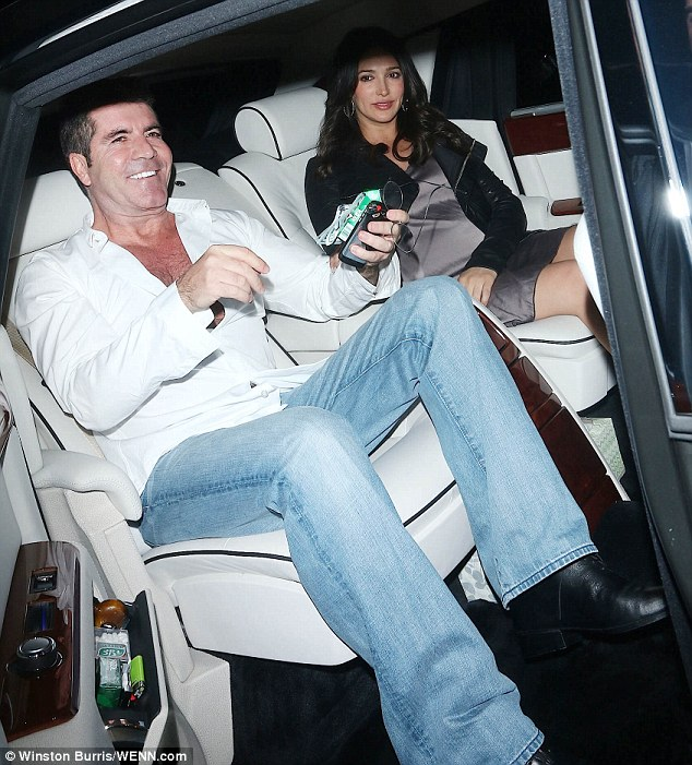 Simon and Lauren at Boa Steakhouse in Hollywood last night